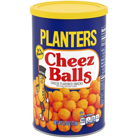 Planters Cheese Balls, 2.75 oz Canister - Mini Halloween Cheese Balls