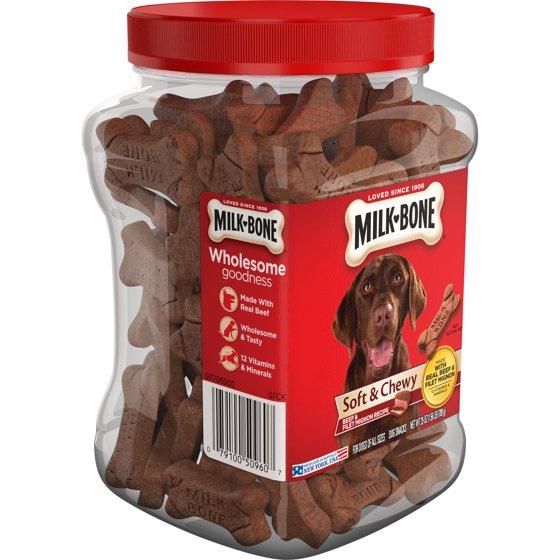 e5e092e383 Milk-Bone Soft   Chewy Beef   Filet Mignon Recipe Dog Snacks