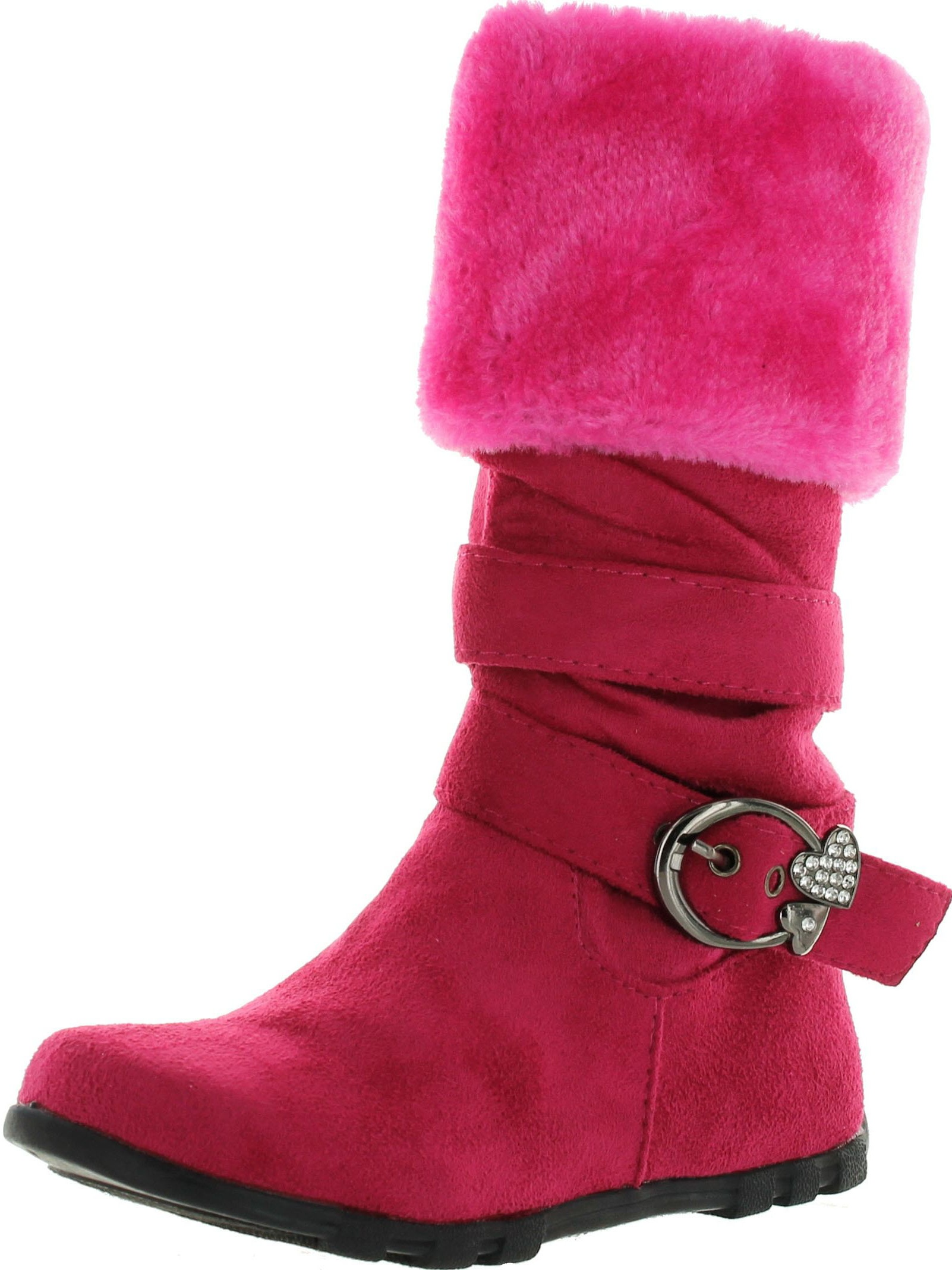 Diamond New Girls Slouch Comf Tall Midcalf Suede Winter Boots Shoes