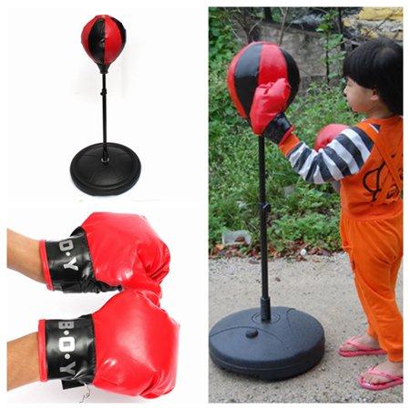 Kids Boxing Punch Ball Children Child Training Bag Stand