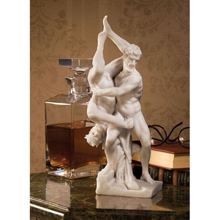 Design Toscano Hercules and Diomedes Statue (1550) Bonded Natural Marble (Statue European Art Sculpture)