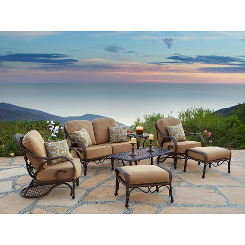 Art Frame Direct Loreto 7 Piece Deep Seating Group with Cushions
