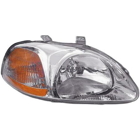 Dorman 1590643 Headlight For Honda Civic, Clear & Amber Lens