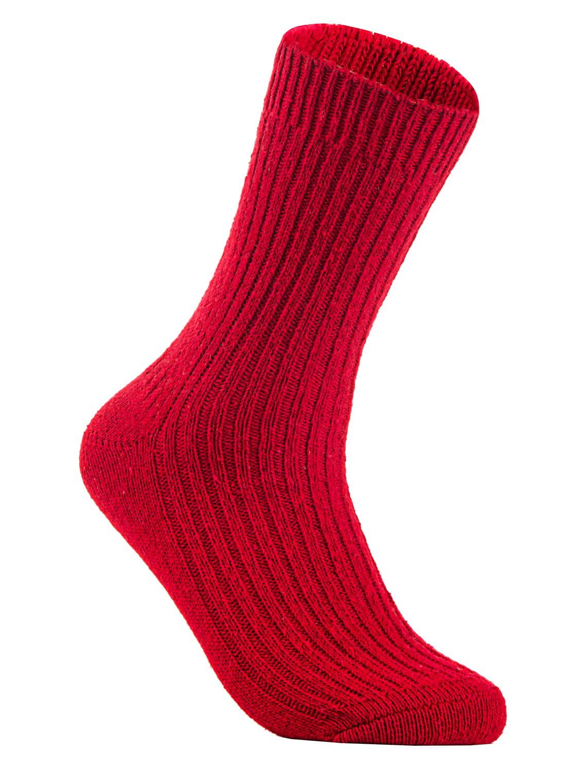 Lian Style Big Girls 1 Pair Knitted Wool Crew Socks FS03 Size XL (Assorted)