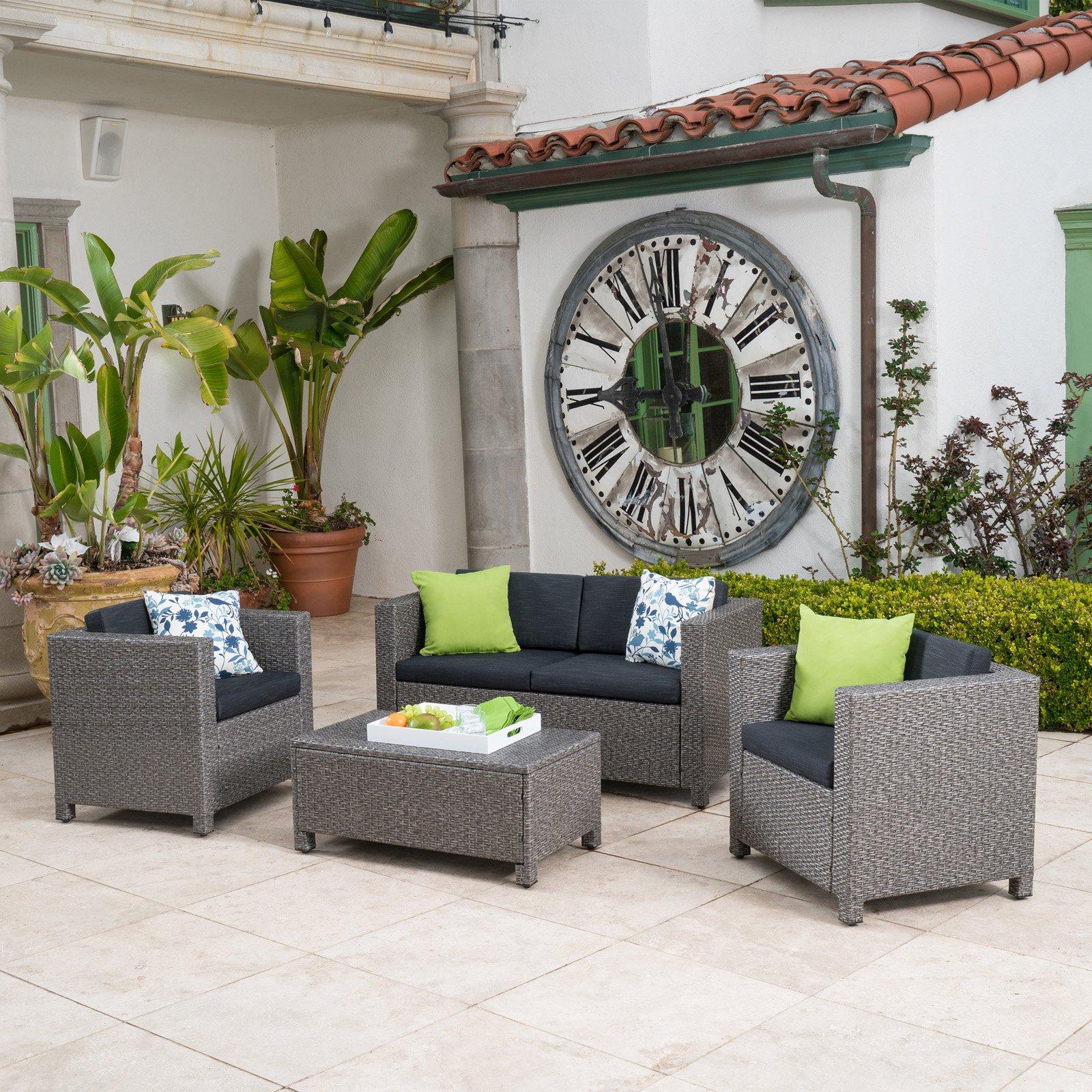 Puerta All-Weather Wicker Conversation Set - Seats 4