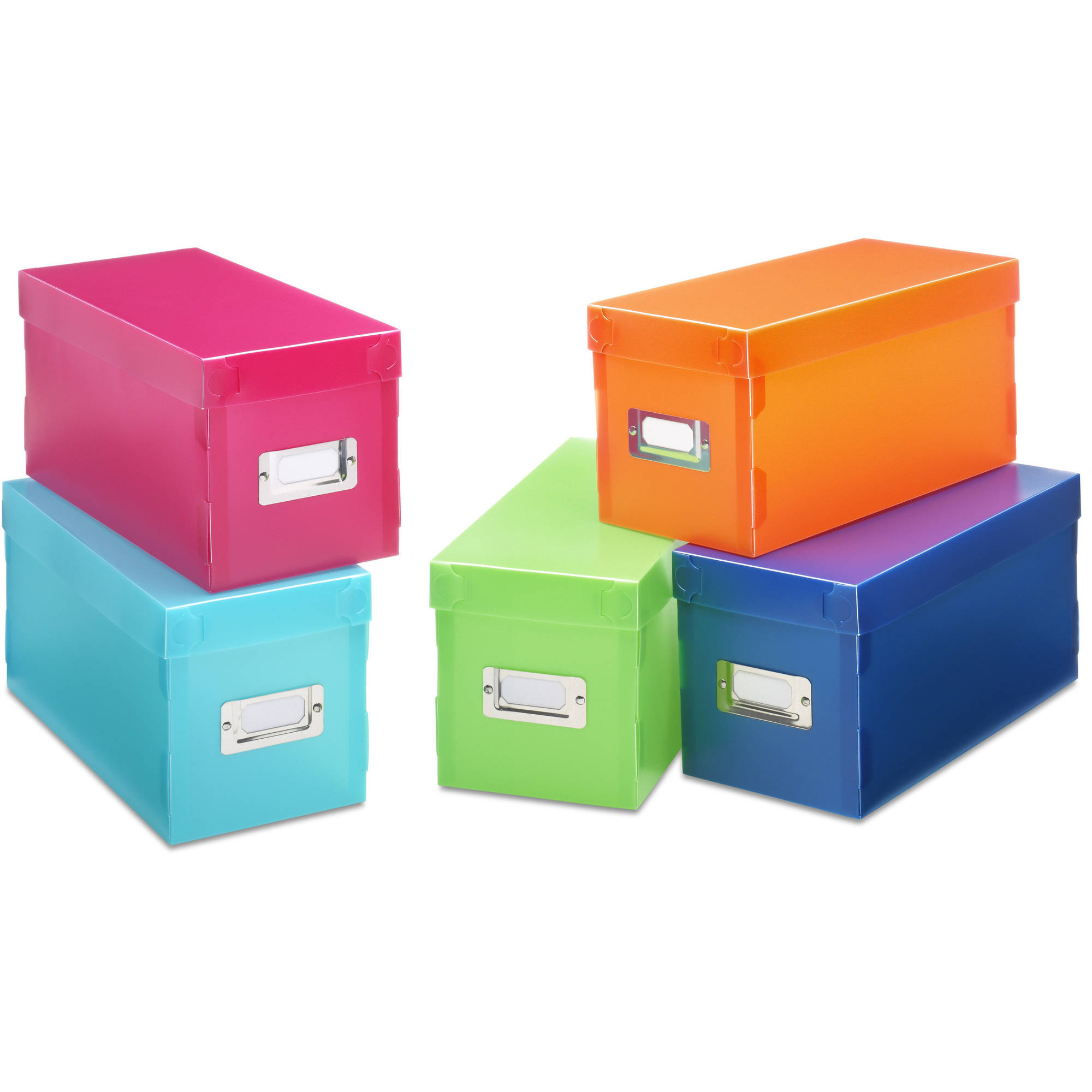 5-Piece Plastic Storage Boxes