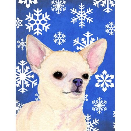 Carolines Treasures SS4610GF 11 x 15 In. Chihuahua Winter Snowflakes Holiday Flag, Garden Size - image 1 of 1