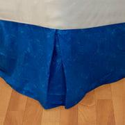 Blue Tie-Dye Twin Bed Dust Ruffle Geometric Bedskirt Bedding Accessory