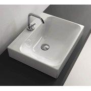 15.7 in. Bathroom Sink in White
