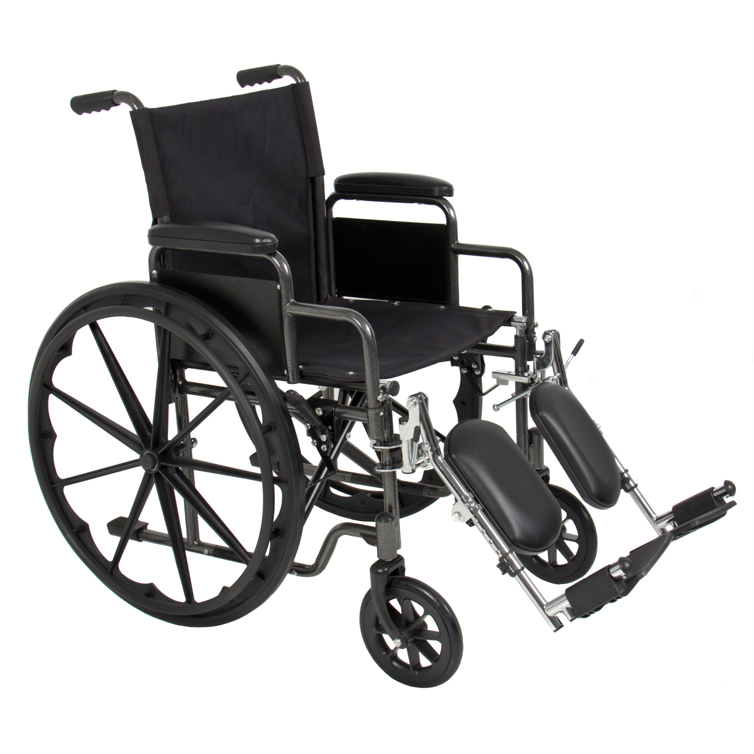 Best Choice Products Folding Lightweight Wheelchair W/ Full Armrests And  Elevating Legrests   Black