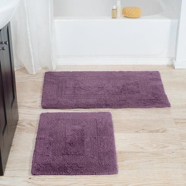 Somerset Home 100 Cotton 2 Piece Reversible Bath Rug Set Mauve Walmart Com Walmart Com