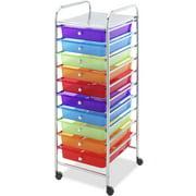 10-Drawer Multi-Color Cart