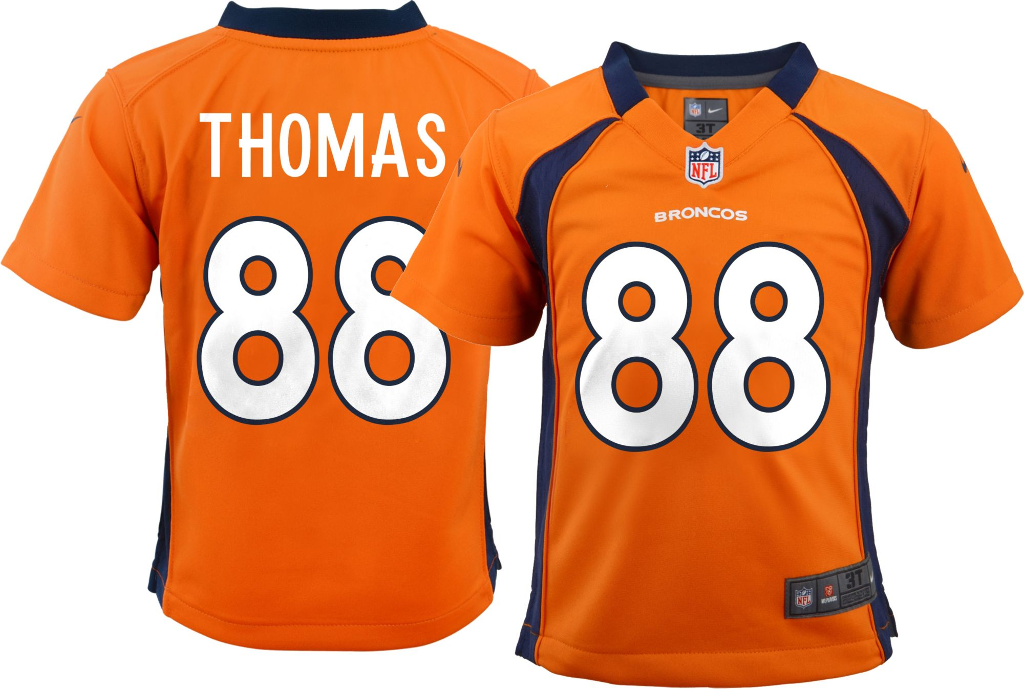 Toddler Denver Broncos Demaryius Thomas Nike Orange Game Jersey -  Walmart.com 0d13366b9