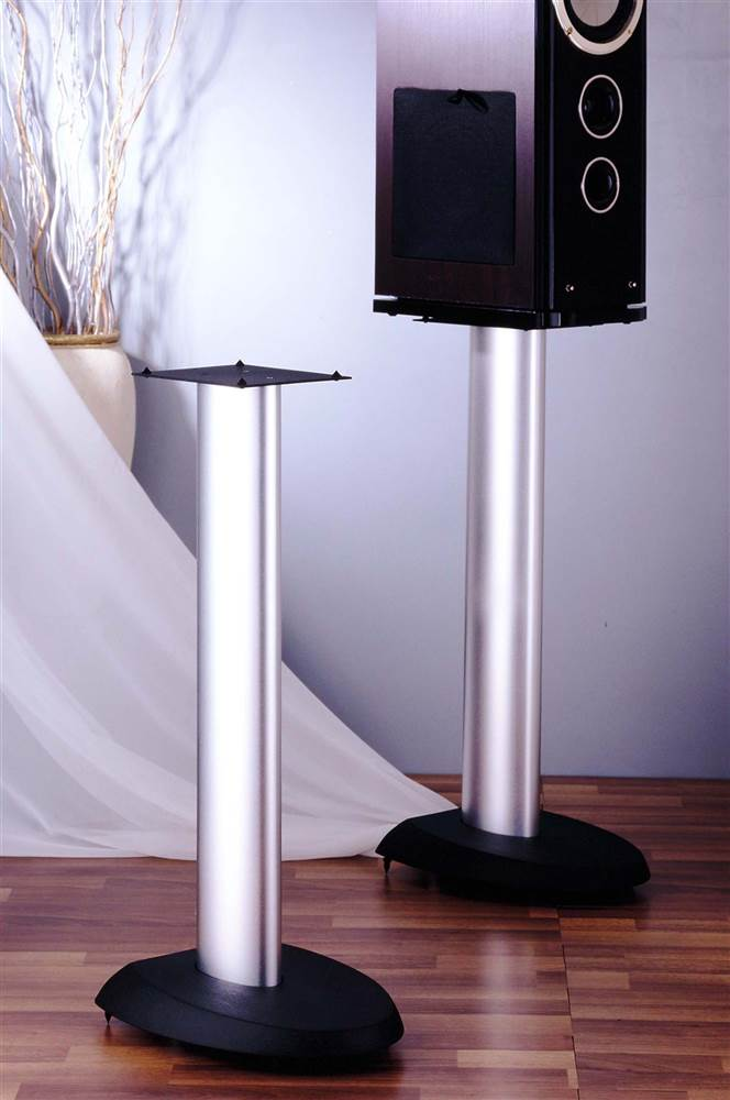 VSP Series Aluminum Speaker Stand in Silver Set of 2 (24 in.) by VTI Manufacturing, Inc.