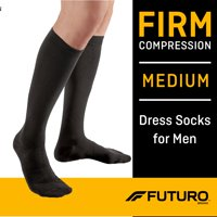 FUTURO Restoring Dress Socks for Men, Medium Black