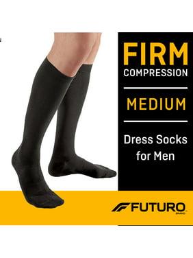 FUTURO Restoring Dress Socks for Men, Firm Compression, Helps Improve Circulation, Medium, Black, 1/Pair