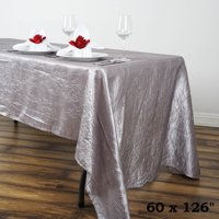 "Efavormart 60x126"" Crinkle Taffeta Rectangle Tablecloths for Kitchen Dining Catering Wedding Birthday Party Decorations Events"