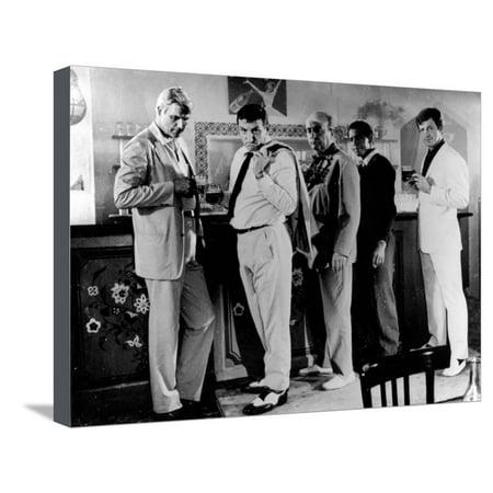 Jean-Paul Belmondo, Lino Ventura and Bernard Blier: 100,000 Dollars Au Soleil, 1964 Stretched Canvas Print Wall Art By Limot