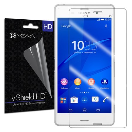 Clear Replacement Shield (VENA vShield - Sony Xperia Z3 Screen Protector [HD Ultra Clear] High Definition Anti-Scratch Shield with Lifetime Replacement Warranty (3 Pack) )