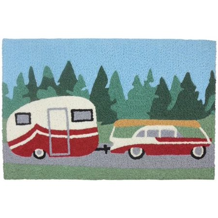Pulling The Camper Going On Family Vacation 33 X 21 Inch Accent Throw Rug