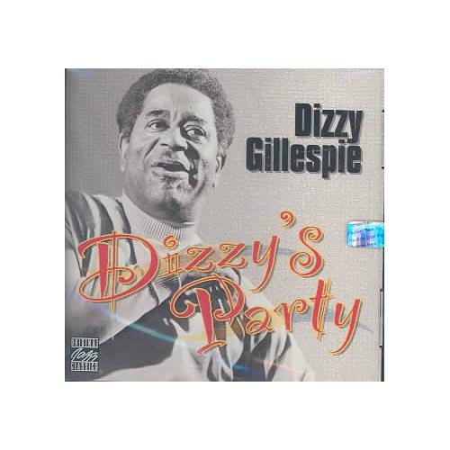 "Personnel: Dizzy Gillespie (trumpet); Ray Pizzi (soprano & tenor saxophones, flute); Rodney Jones (guitar); Benjamin Franklin Brown (electric bass); Mickey Roker (drums); Paulinho da Costa (percussion).<BR>Recorded at RCA Studios, Los Angeles, California on September 15 & 16, 1976.<BR>Digitally remastered by Phil De Lancie (1994, Fantasy Studios, Berkeley, California).<BR>Believe it or not, DIZZY'S PARTY is a funk/dance recording--this is Dizzy Gillespie stretching into unexpected territory. Produced by Norman Granz, a pioneer in jazz crossover projects, the funk is thick and nothing is taken too seriously. James Brown would enjoy this effort.<BR>The tracks are long and exploratory save for ""Harlem Samba,"" which is short but furious. Dizzy plays like he's having a hell of a good time and his spirit infects the other players. This is be-bop meets Shaft on a conga line."
