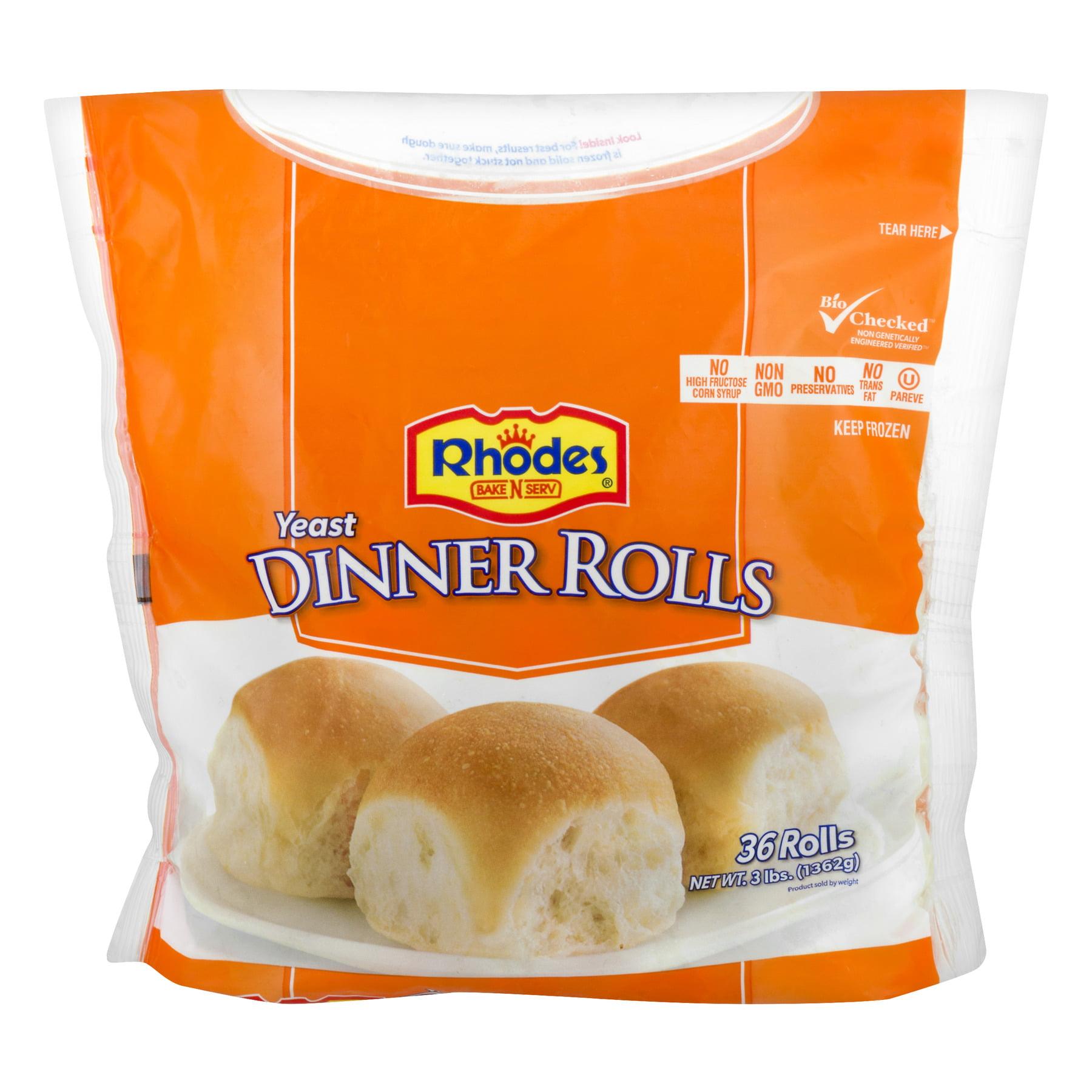 Rhodes Bake N Serv Yeast Dinner Rolls 36 Ct Bag Walmart