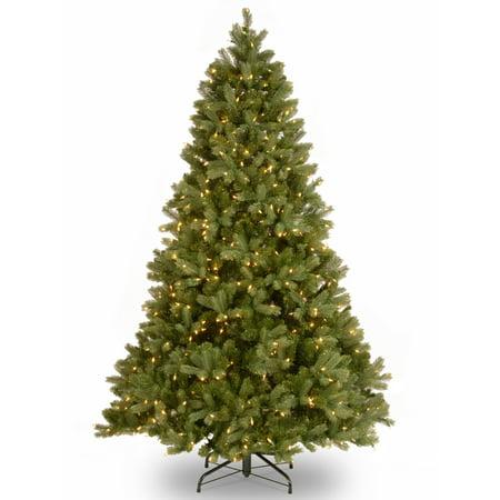 National Tree 7.5' Artificial Downswept Douglas Fir Christmas Tree w/ LED Lights ()