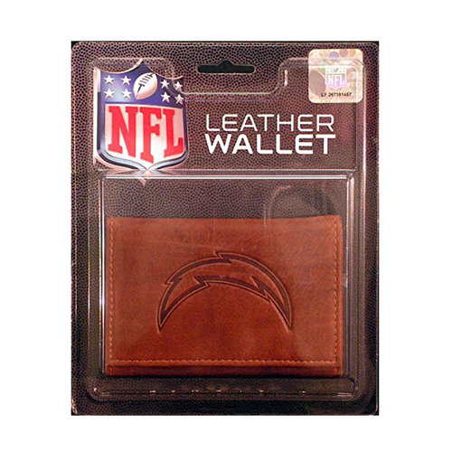 Nfl San Diego Chargers Leather Trifold Wallet Walmart Com