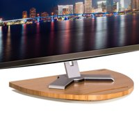 prosumer's choice bamboo tv swivel stand for led/lcd tv base w/tablet dock 21 x 16  holds 220 lbs
