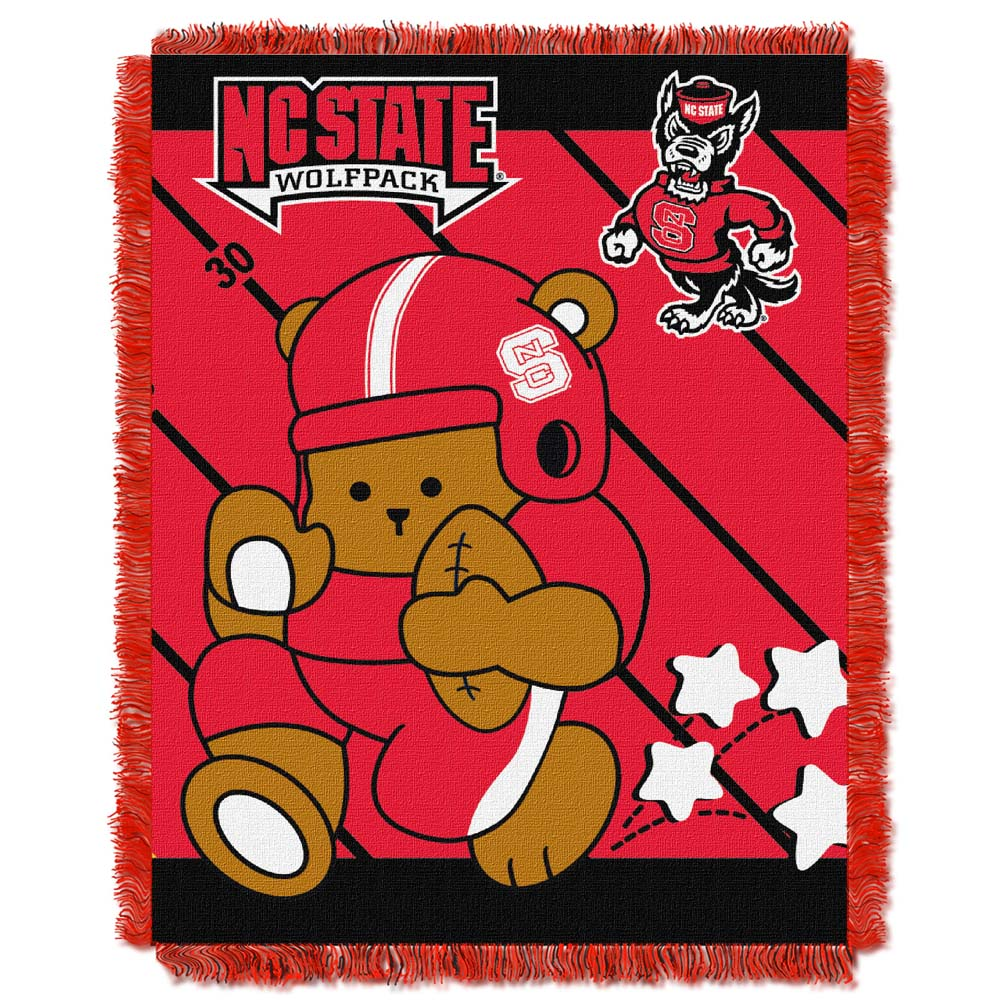 NC State Jacquard BABY Throw Blanket