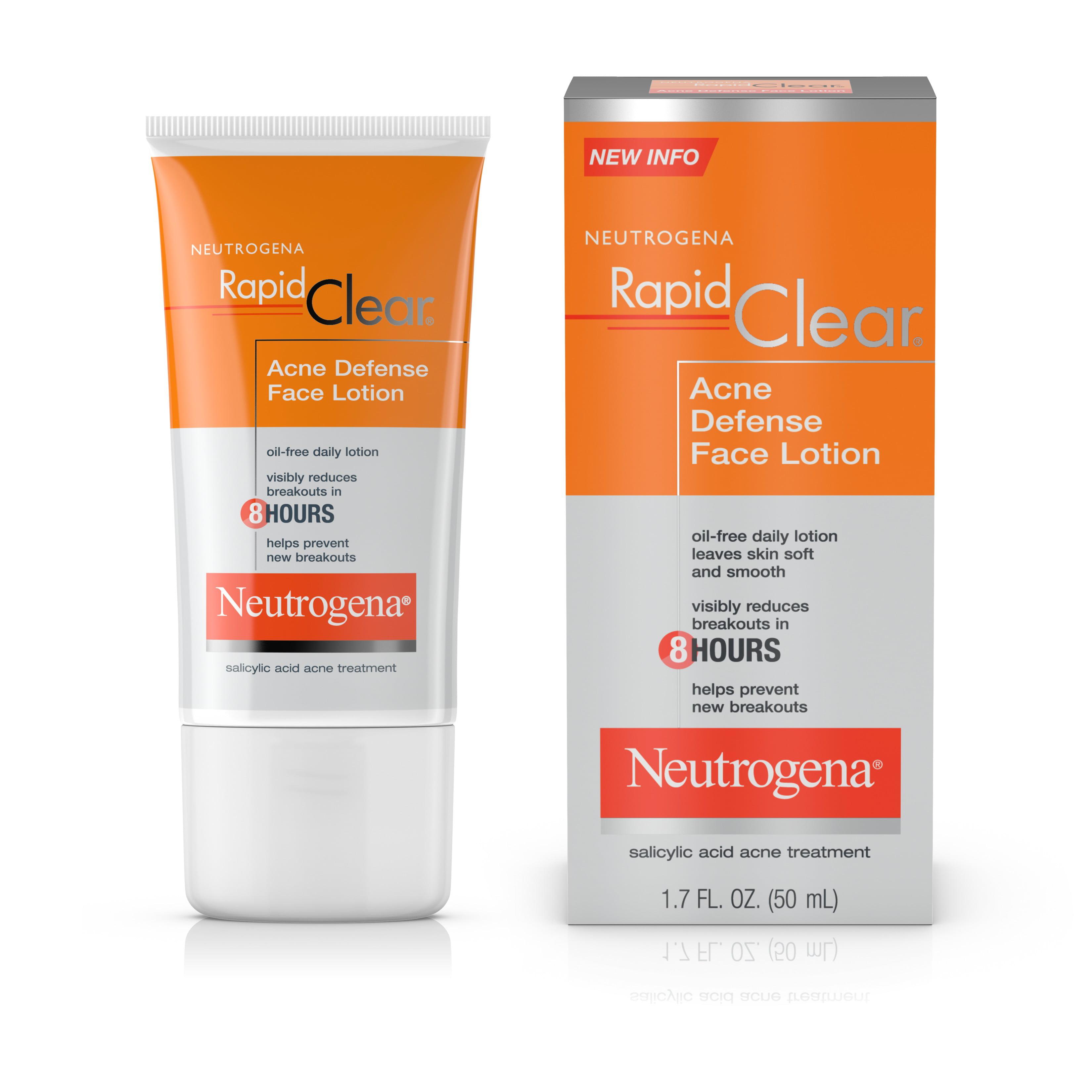 Neutrogena Rapid Clear Acne Defense Face Lotion, 1.7 fl. oz