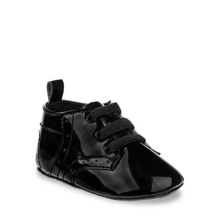 Joseph Allen Classy Patent Leather Infant Dress Shoe (Infant Boys) Boys Black Patent Leather