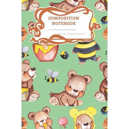 Composition Notebook: A 6x9 Inch Matte Softcover Paperback Notebook Graph Paper Journal - 120 pages 5x5 Grids -Honey Bears Bumble Bees Paperback
