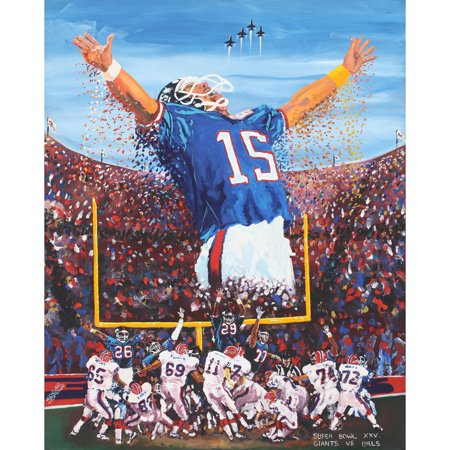 "Buffalo Bills vs. New York Giants Deacon Jones Foundation 24"" x 36"" Tampa Dueling Giclee on Canvas - No Size"