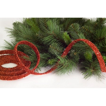 Pack of 8 Red Glitter Beaded Artificial Christmas Garlands - Unlit 15
