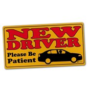 Zone Tech Vehicle Bumper Magnet   New Driver Please Be Patient Effective Bumper Decal Neon Yellow