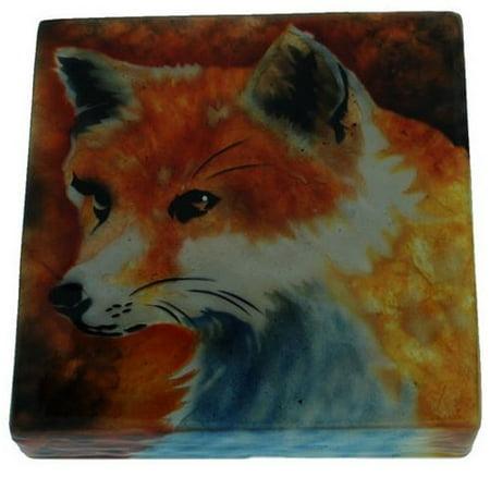 Red Fox Capiz Jewelery Trinket Keepsake Box Container Animal Wildlife Decoration Wildlife Trinket Boxes