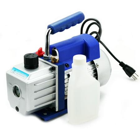 STKUSA 5CFM Dual-Stage Vacuum Pump 1/2HP R410 R134, with Oil