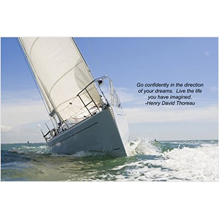 Sailing Sailboat (Sailboat Sailing Inspirational Poster 24X36 Motivation & Self)