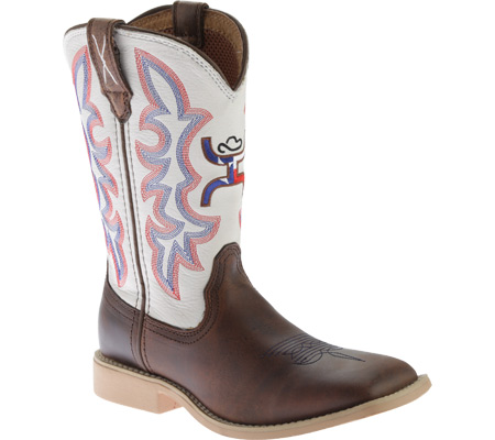 Twisted X Boots Unisex Children/'s  YOUTH SIZE 1 YHY0003 Cowkid/'s Hooey