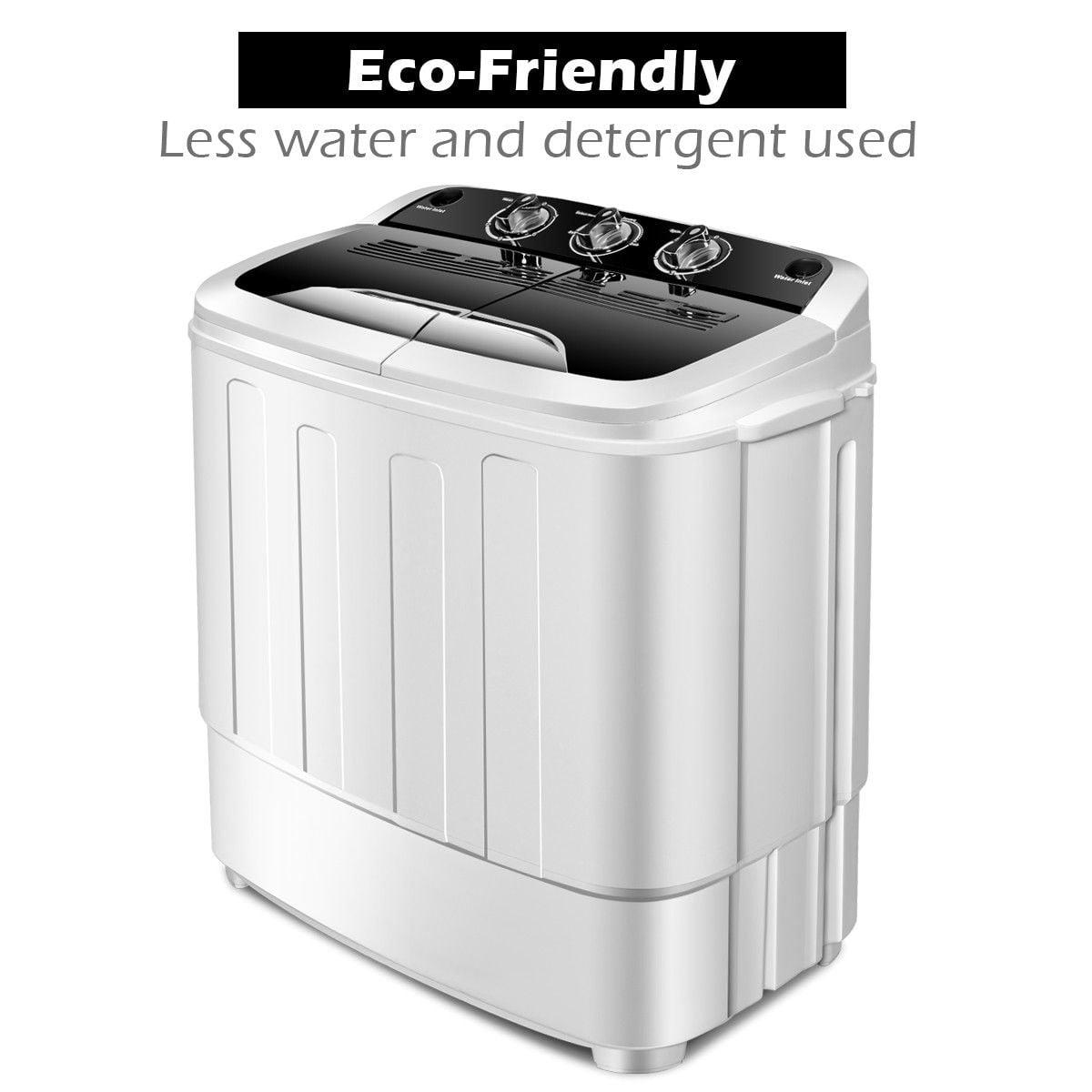 Twin Tub Washing Machine Caravan 6.5kg Compact Top Loader Portable Spin Dryer