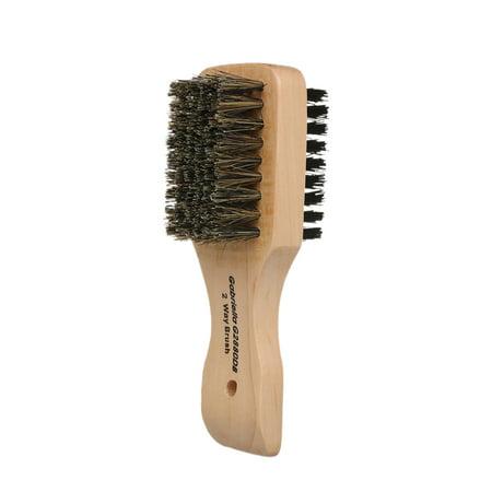 Men's Beard Hair Brush Wood Handle Shaving Brush Men Mustache Brushes Comb Double-sided Facial Hair Brush (Pic For Hair)