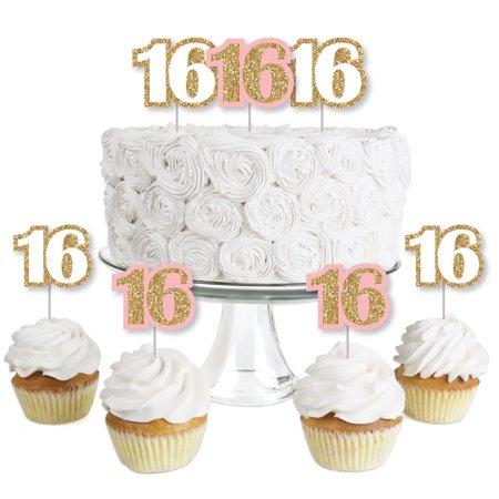 Sweet Sixteen Ideas For Winter (Sweet 16 - Dessert Cupcake Toppers - Birthday Party Clear Treat Picks - Set of)