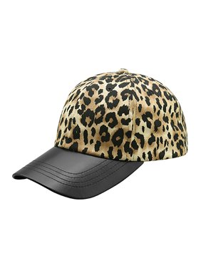 7fe0de0ebda Product Image Top Headwear Leopard Print Cap w  Textured Leather Bill