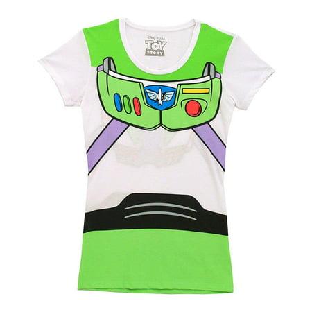 Buzz Lightyear Female (Disney Pixar Buzz Lightyear Costume Juniors T-Shirt)