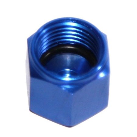 BLUE 6AN AN-6 Flare Cap Block Off Aluminum Anodized Fitting Anodized Block Off Plate