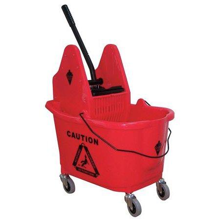- Tough Guy 5CJK2 Red Polypropylene 12 to 32 oz. Mop Bucket and Wringer