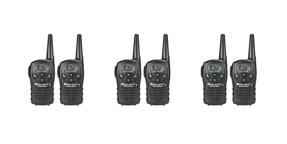 Midland LXT118 Two_Way Radio FRS GMRS 22 Channel Walkie Talkie 6 PACK by Midland