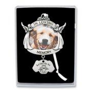 Silver-tone In Loving Memory Dog Angel Photo Ornament