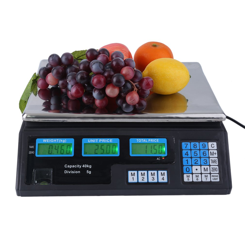 66Lbs 40KG Electronic Digital Weight Scale Price Computing Market Retail Deli Food Meat Produce Counting... by
